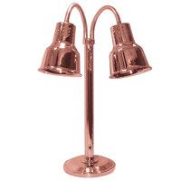 Hanson Heat Lamps DLM/600/ST/BCOP Dual Bulb Flexible Freestanding Streamline Heat Lamp with Bright Copper Finish - 115/230V