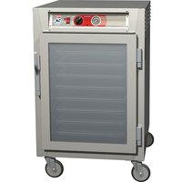 Metro C565-SFC-LPFC C5 6 Series Half-Height Reach-In Pass-Through Heated Holding Cabinet - Clear Doors