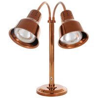 Hanson Heat Lamps DLM/600/ST/SC Dual Bulb Flexible Freestanding Streamline Heat Lamp with Smoked Copper Finish - 115/230V