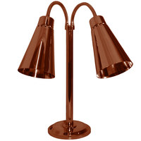 Hanson Heat Lamps DLM/900/ST/SC Dual Bulb Flexible Freestanding Streamline Heat Lamp with Smoked Copper Finish - 115/230V