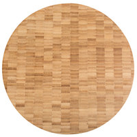 American Metalcraft B12 12 inch x 1 1/2 inch Round Bamboo Butcher Block Serving Board