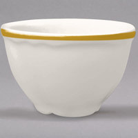 Homer Laughlin 506828 Styleline Gold 7.25 oz. Scalloped China Bouillon - 36/Case