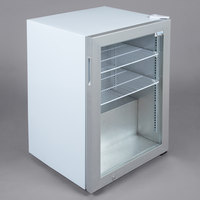 Avantco CFM3 White Countertop Display Freezer with Swing Door