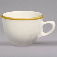 Homer Laughlin 509828 Styleline Gold 7 oz. Scalloped China Princess Cup - 36/Case