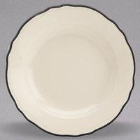 Homer Laughlin 1126847 Styleline Black 12 oz. Scalloped China Pasta Plate - 12/Case
