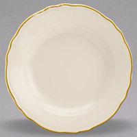 Homer Laughlin 1126828 Styleline Gold 12 oz. Scalloped China Pasta Plate - 12/Case