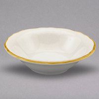Homer Laughlin 533828 Styleline Gold 12.25 oz. Scalloped China Grapefruit Bowl - 36/Case