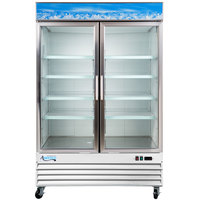 Avantco GDC-49-HC 53 inch White Swing Glass Door Merchandiser Refrigerator with LED Lighting