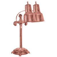 Hanson Heat Lamps DLM/RB9/ANT/BCOP Dual Bulb Flexible Freestanding Heat Lamp with Bright Copper Finish - 115/230V