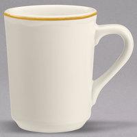 Homer Laughlin 130828 Styleline Gold 8.25 oz. Scalloped China Denver Mug - 36/Case