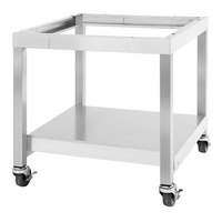 Garland SS-CS24-24 28 15/16 inch x 24 inch Mobile Stainless Steel Equipment Stand with Casters
