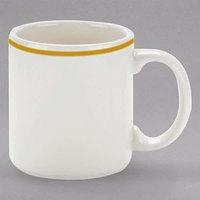 Homer Laughlin 454828 Styleline Gold 9 oz. Scalloped China Shakespeare Mug - 36/Case