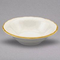 Homer Laughlin 529828 Styleline Gold 3.75 oz. Scalloped China Princess Fruit Bowl - 36/Case