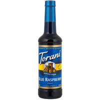 Torani 750 mL Sugar Free Blue Raspberry Flavoring Syrup