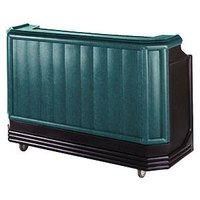 Cambro BAR650CP421 Granite Green and Black Cambar 67 inch Portable Bar with 7-Bottle Speed Rail and Cold Plate