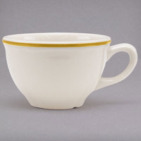 Homer Laughlin 508828 Styleline Gold 7.25 oz. Scalloped China Cup - 36/Case