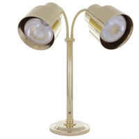 Hanson Heat Lamps DLM/200/ST/BR Dual Bulb Flexible Freestanding Streamline Heat Lamp with Brass Finish - 115/230V
