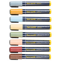 American Metalcraft SMA510V8ET Securit All-Purpose Mini Tip Assorted Earth Tone Chalk Markers - 8/Pack