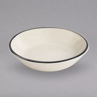 Homer Laughlin 402847 Styleline Black 4.5 oz. China Fruit Bowl - 36/Case