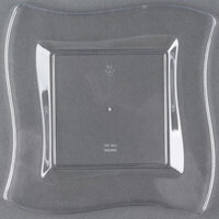 Fineline Wavetrends 106-CL 6 1/2 inch Clear Plastic Square Plate - 120 / Case