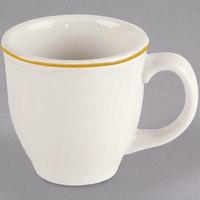Homer Laughlin 1127828 Styleline Gold 13.5 oz. Scalloped China Mug - 12/Case