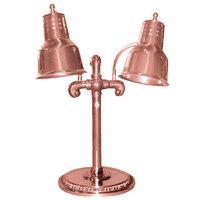 Hanson Heat Lamps DLM/RB9/SOL/BCOP Dual Bulb Flexible Freestanding Heat Lamp with Bright Copper Finish - 115/230V