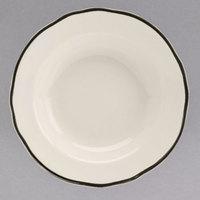 Homer Laughlin 564847 Styleline Black 12.75 oz. Scalloped China Rim Soup Bowl - 24/Case