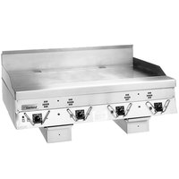 Garland CG-24R Master Series 24 inch Natural Gas Production Griddle with Thermostatic Controls and Rear Drain - 60,000 BTU