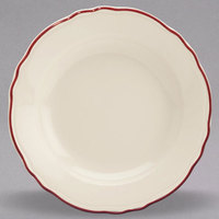 Homer Laughlin 1126866 Styleline Maroon 12 oz. Scalloped China Pasta Plate - 12/Case