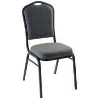 National Public Seating 9362-BT Natural Greystone Fabric Stackable Chair with 2 inch Padded Seat