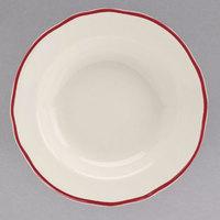 Homer Laughlin 564866 Styleline Maroon 12.75 oz. Scalloped China Rim Soup Bowl - 24/Case