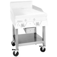Garland SCG-24SSC 24 inch Stainless Steel Equipment Stand with Undershelf and Casters