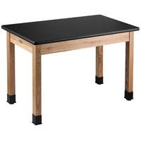 National Public Seating HSLT2460 24 inch x 60 inch Science Lab Table - 30 inch Height