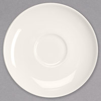 Homer Laughlin 22157300 Nadia 6 1/2 inch Ivory (American White) Coupe Saucer - 36/Case