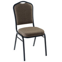 National Public Seating 9378-BT Natural Taupe Fabric Stackable Chair with 2 inch Padded Seat