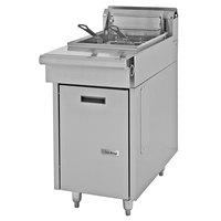 U. S. Range C836-1-35F Natural Gas 35 lb. Cuisine Series Range Match Floor Fryer - 110,000 BTU