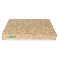 26 1/2 inch x 18 5/8 inch x 4 inch Kraft Signature Print Full Sheet Cake / Bakery Box with White Corrugated Base - 25/Bundle