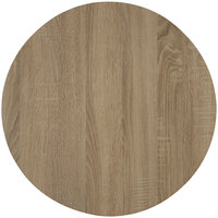 Grosfillex US03VG76 VanGuard 30 inch Natural Oak Resin Round Indoor Table Top
