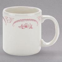 Homer Laughlin 4542 American Rose Red 9 oz. Ivory (American White) China Shakespeare Mug - 36/Case