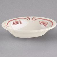 Homer Laughlin 0052 American Rose Red 28 oz. Ivory (American White) China Baker - 12/Case