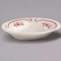 Homer Laughlin 0052 American Rose Red 28 oz. Ivory (American White) China Baker   - 12/Case