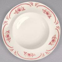 Homer Laughlin 1892 American Rose Red 22 oz. Ivory (American White) Mediterranean Pasta China Bowl - 12/Case