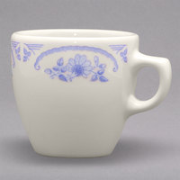 Homer Laughlin 10525035 American Rose Blue 10 oz. Ivory (American White) China Bistro Cup - 36/Case