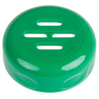 Tablecraft C260SLTGR Green Plastic Slotted Shaker Top   - 12/Pack