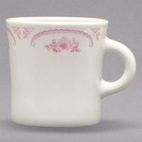 Homer Laughlin 9822 American Rose Red 13 oz. Ivory (American White) Jumbo China Mug - 12/Case