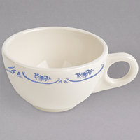 Homer Laughlin 1055035 American Rose Blue 7.75 oz. Ivory (American White) China Boston Cup - 36/Case