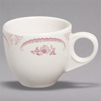 Homer Laughlin 1082 American Rose Red 3.5 oz. Ivory (American White) China A.D. Cup - 36/Case