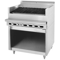 U. S. Range C0836-18A Natural Gas 18 inch Cuisine Series Range Match Radiant Charbroiler with Storage Base - 54,000 BTU