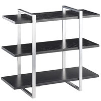 Cal-Mil 1940-96 Midnight 3-Shelf Metal Frame Riser with Silver Frame