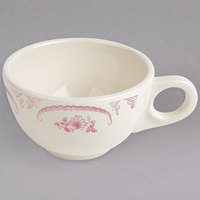 Homer Laughlin HLC1052 American Rose Red 7.75 oz. Ivory (American White) China Boston Cup - 36/Case